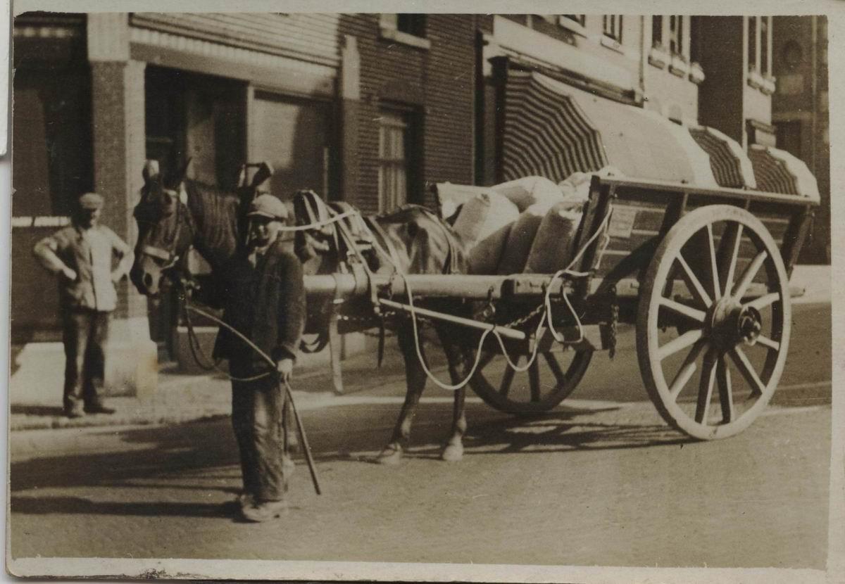 Afbeeldingsresultaat voor paard en wagen vroeger